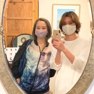 4ヶ月ぶりの美容室♪お仕事に備えてヘアメンテ!和装にも合うマスク
