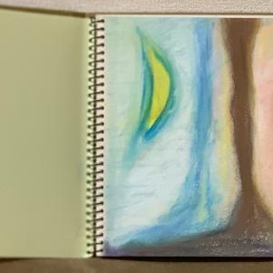 久々のお絵描き。チョークアート