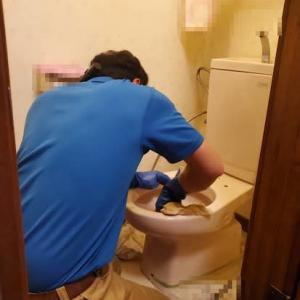 トイレ温水洗浄便座、交換工事