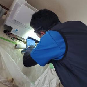 隠ぺい配管のエアコン工事