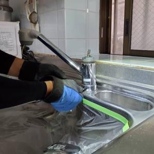 キッチン給水栓交換工事