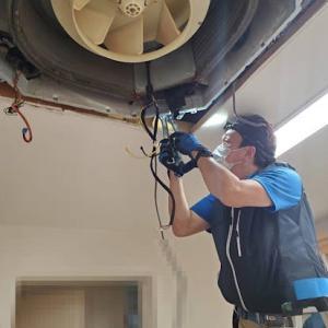 天井埋込エアコン交換工事
