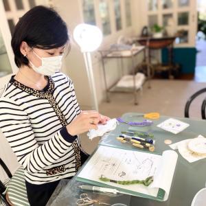 素敵な新入生をご紹介します。『フランス刺繍教室』