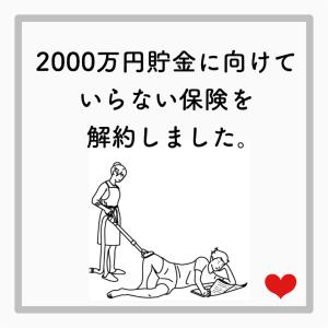 2000万円貯金に向けて不要な保険を解約しました。