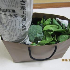 終日施術に追われる忙しい1日。 野菜をいただき感謝