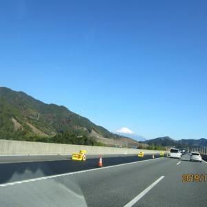 美しい富士山を横目に見ながら車で鳥取→東京に到着