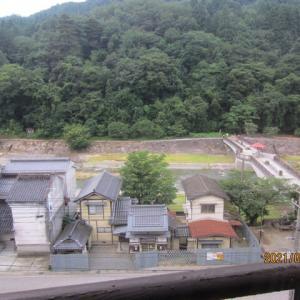 梅雨末期の大雨で床下浸水などが起こった三朝温泉に宿泊
