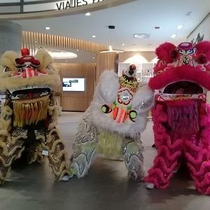 メキシコで、獅子舞