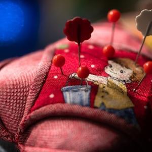 遅い午後の裁縫道具たち