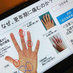 昨日は、HATAJOの夜会セミナー、更年期女性に多い指の痛みについて