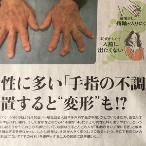 手指の不調は更年期症状のひとつです、早めの対処を!