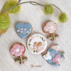 [コピー]【募集】秋の刺繍風アイシングクッキー