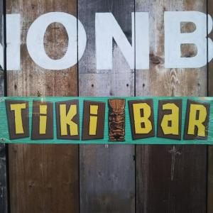 """""""Tiki BaR"""" アメリカ製ブリキ看板♪"""