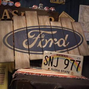 FORD-フォード- オーバルロゴ 木製看板♪