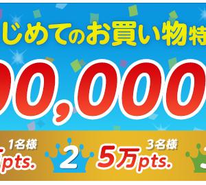 ECナビ  はじめてのお買い物特集!最大10万ポイントプレゼント!