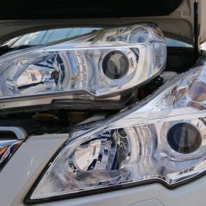 レガシィ アウトバック ヘッドライト塗装