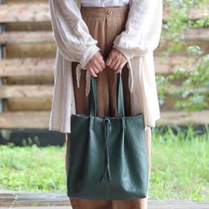 新作 リボン結びがかわいい❤️縦長トートバッグ