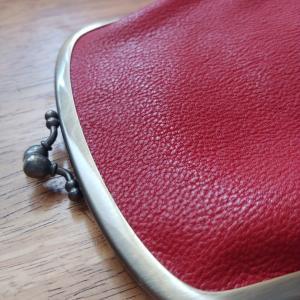 赤い親子がま口財布