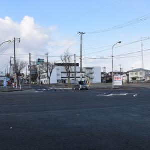 外旭川アンパスから電車道、土崎本町通りへ歩く