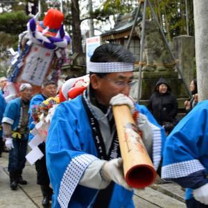 三吉神社 梵天祭・赤沼から秋田駅東口に歩く