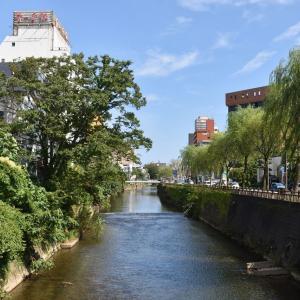 五丁目橋から保戸野川反橋、菊谷小路へ