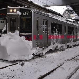 秋田から男鹿線で男鹿駅へ