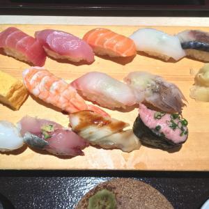 台風の前には寿司屋に行く