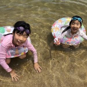 虹ケ浜で沢山 泳いじゃった!    あ~あ !   楽しかった。