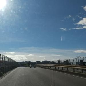 台風通過後の青空。