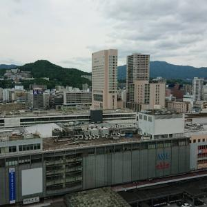 広島駅を眺めながら