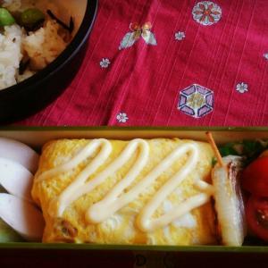 中1男子のお弁当27☆オムソバ弁当☆