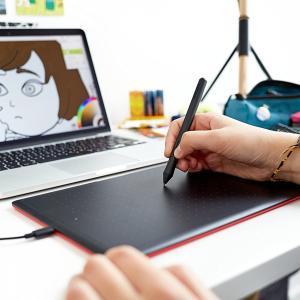 Chromebookにも正式対応した「One by Wacom」は、イラスト制作だけでなく、仕事や学習用途にも使用できる、お手頃価格なペンタブ。