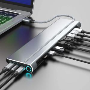 Chromebookにも対応したドッキングステーション「magBac」は、カードリーダー、映像出力、LANポートを備えてSSDまで内蔵した〝14 in 1〟なので、快適にPCへ周辺機器を接続可能。