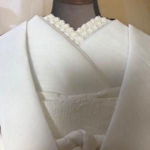 花嫁衣の長襦袢の衿制作時間は4時間