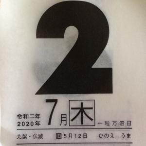 7月2日(木)九星別今日の運勢