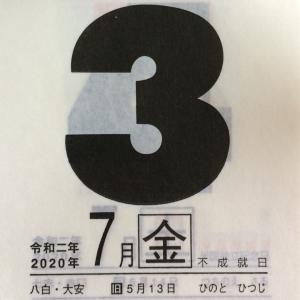 7月3日(金)九星別今日の運勢