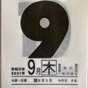一粒万倍日・開運ひめくり・9月9日(木)七赤金星・重陽の節句
