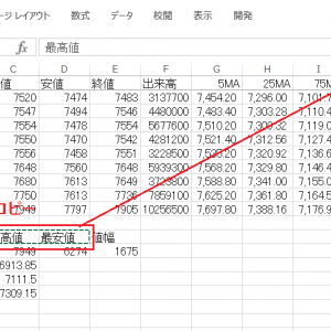エクセルでチャートにフィボナッチ級数ラインを追加する その19