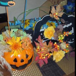 ご自宅ハロウィン飾りを生徒さんが送ってくれました