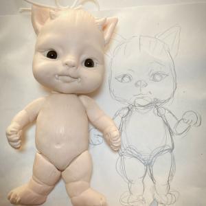 悪魔な子猫、トート君♪製作中〜♪^ ^