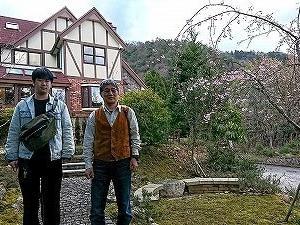 東宇治陸上3期生伊関俊一氏、奥様の予約制レストランに招かれました。