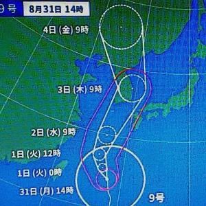大型台風が接近です! コロナ・猛暑に続き・・