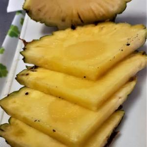台湾産パインアップル2日目!甘い・みずみずしい・芯も食べられる。