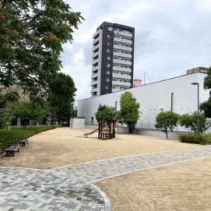 厳井東公園がリニューアルしてた。岡山県岡山市北区昭和町4−4