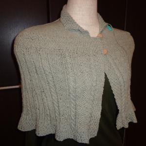 まだ綿麻で編んだ肘が隠れる程ので心地よい。10月なのに?