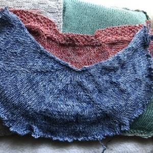 日除けの為のフードを編みたいのだけど…