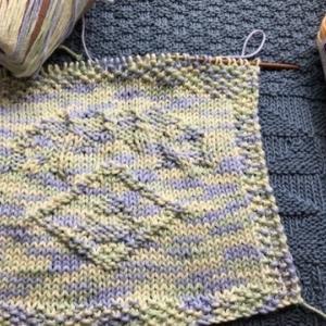 段染め《ふっくら太いコットンヤーン》試し編み