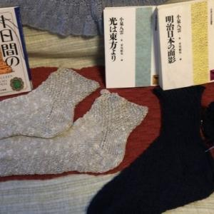 【編み物】麻のソックスで涼しく&【読書】小泉八雲とエラリー・クイーン
