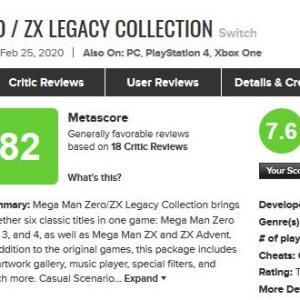 『ロックマン ゼロ&ゼクス ダブルヒーローコレクション』海外レビュー「新モードが素晴らしく傑作を更に高めている」スイッチ版のほうがPS4版よりも高評価に!