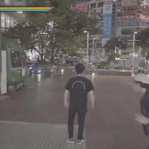渋谷の街で「ゲームあるある」を再現した動画に93万いいね 世界中から「カメラワークが逸品」「完全に龍が如く」と大絶賛